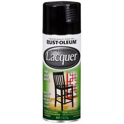 Rust-Oleum 1905830 Lacquer Spray, Black, 11-Ounce