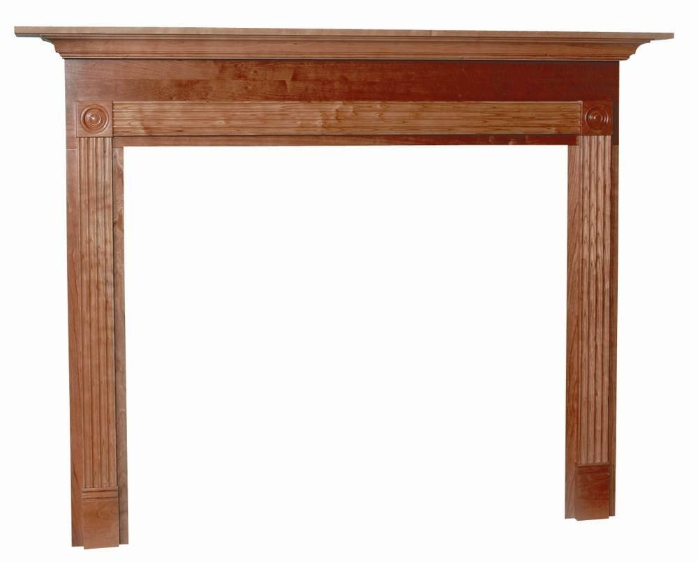 Seneca Flush Fireplace Mantel in Red Mahogany Finish (Custom Cherry 50 in. x 52 in.)