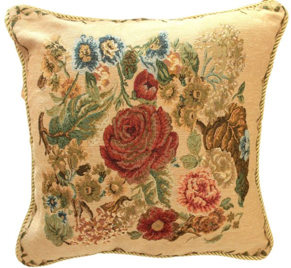 Set of 2 Piece 18 x 18 inch Colorful Floral Country Rustic Morning Meadow Decorative Cushion Throw Accent Pillow Cover