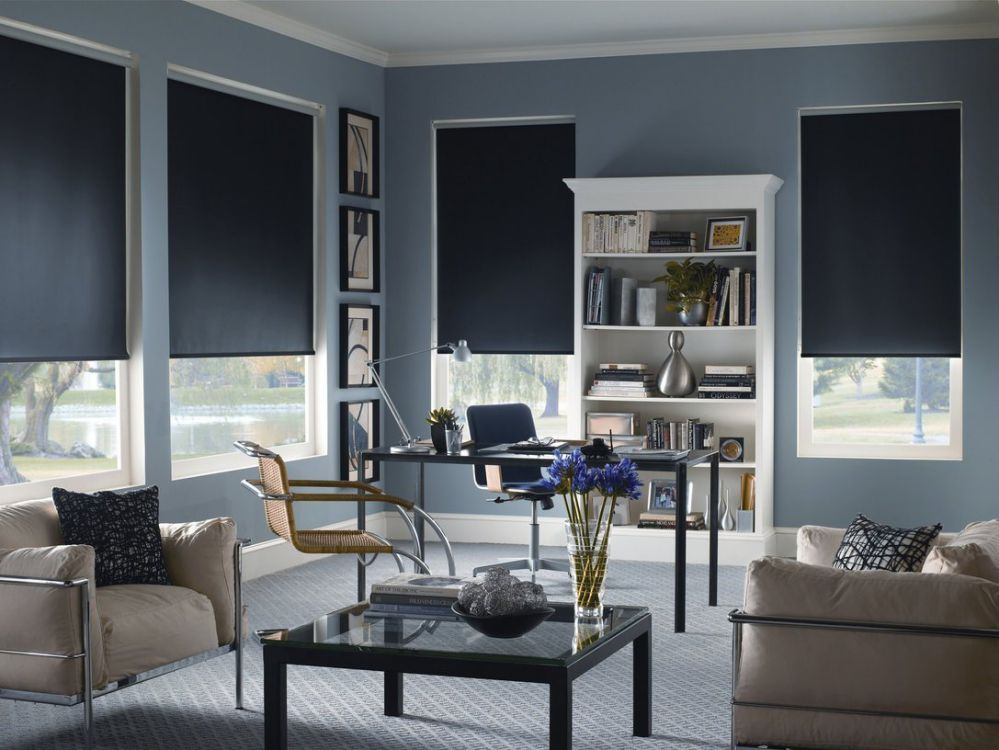 Shades 369 High Quality Custom Size Interior Roller Shades Inside Mount Window Width X Length (Espresso Blackout, 36x72)