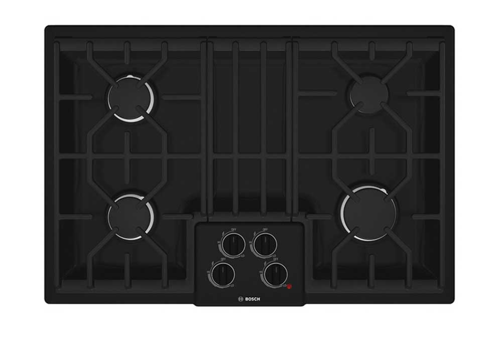 Bosch NGM5064UC 30 inch gas cooktop in black