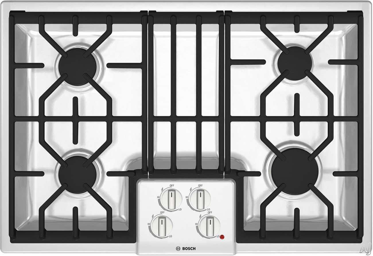 Bosch white NGM5064UC 30 inch gas cooktop series 500