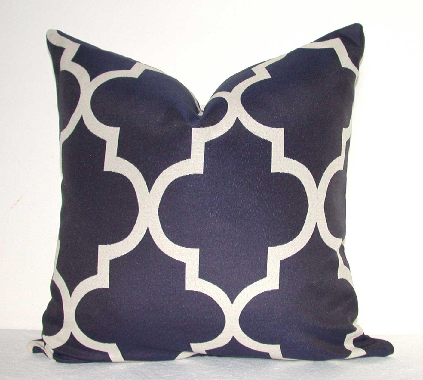 Kyoozi blue sofa pillow cases