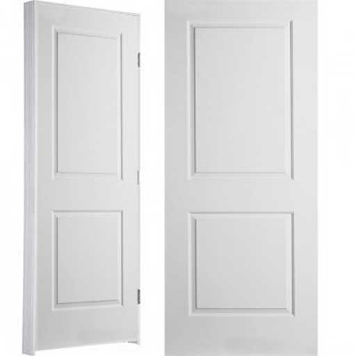 Square 2 panel interior doors in white
