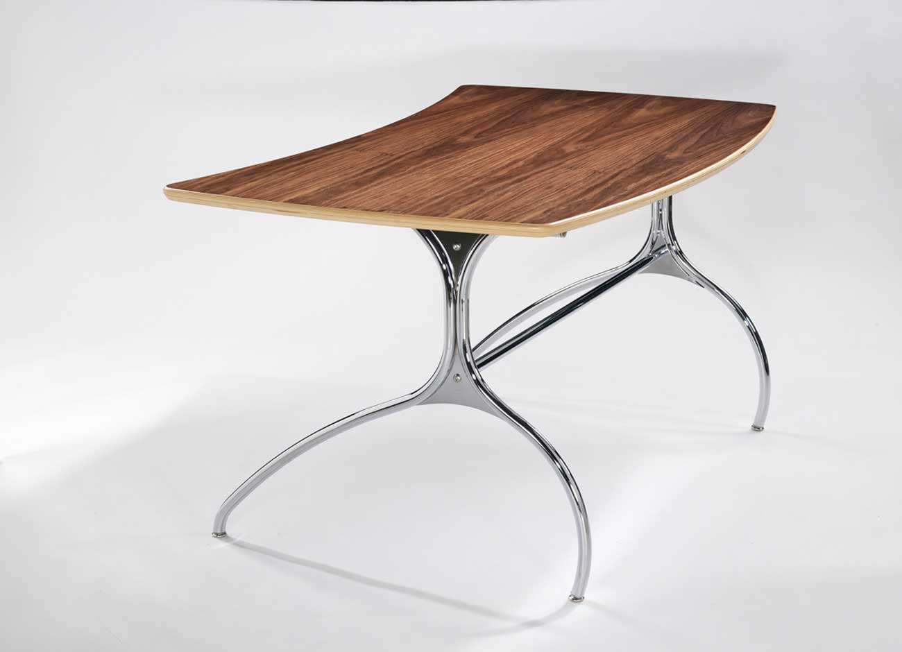 stylish solid wood and stainless steel desks