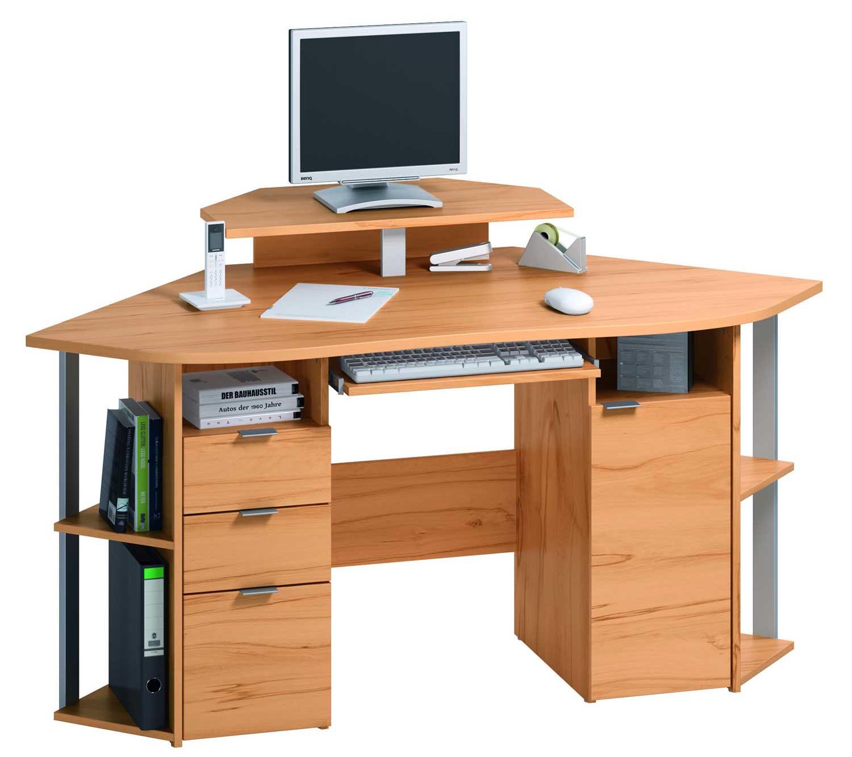 wooden corner computer workstation for home