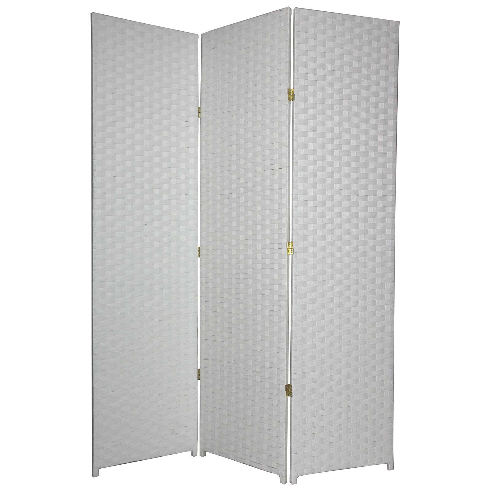 3 panels elegant fiber white room divider from Woven