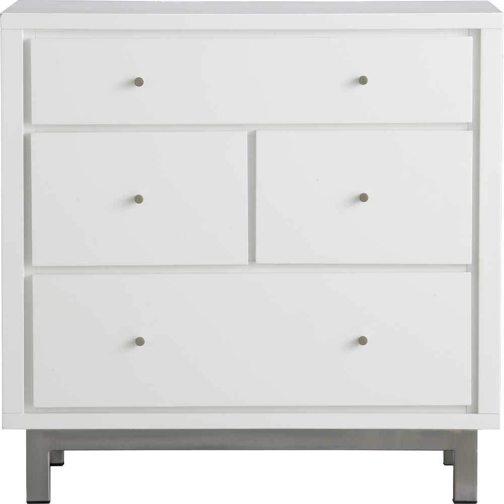 Cubix 4 Drawers Minimalist White Bedroom Chest