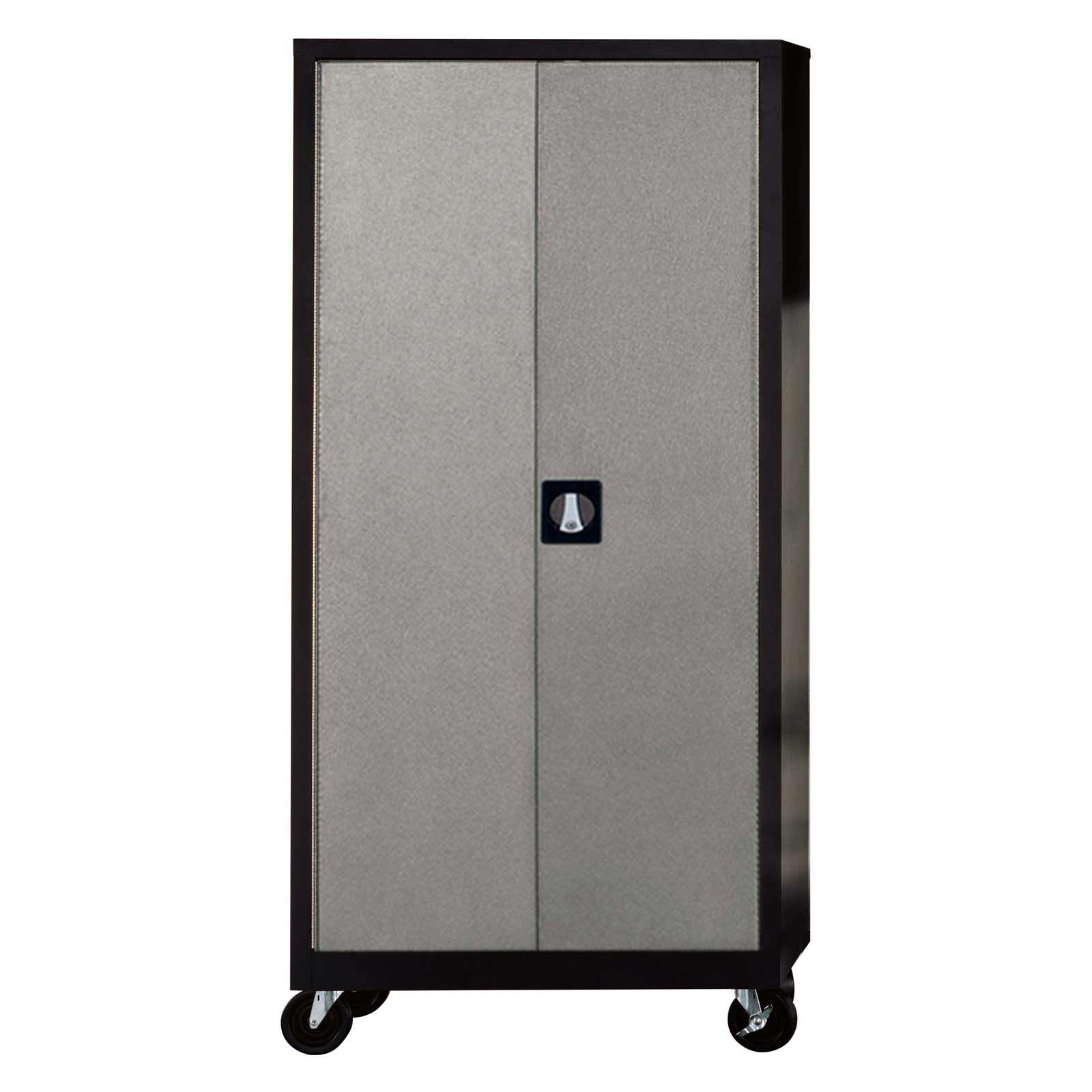Edsal Silvervein Home Garage Steel Storage Cabinet with 4 Shelf