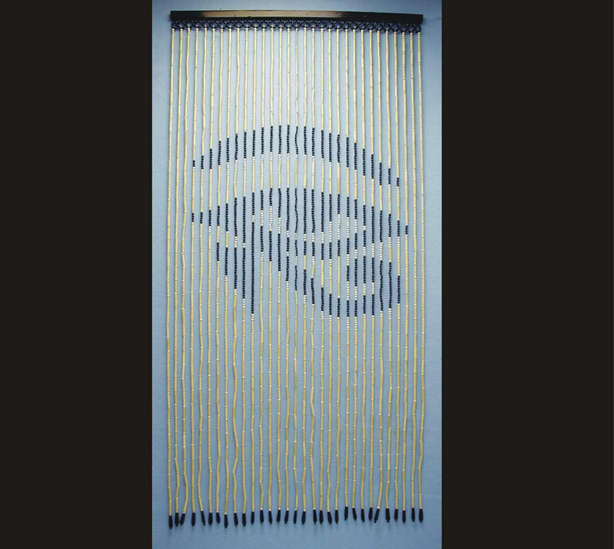 Eye Beaded Door Curtain in Bamboo