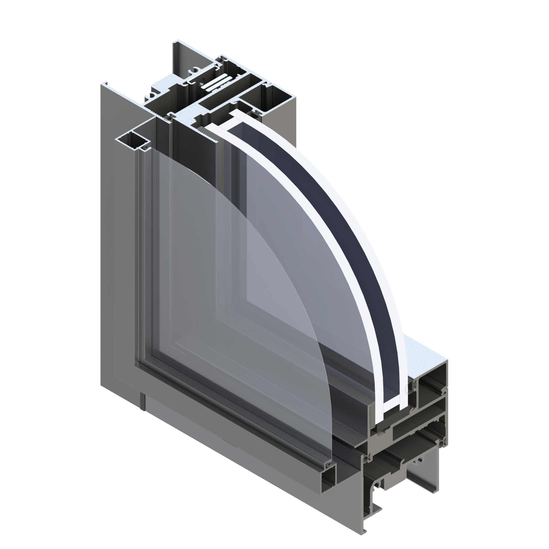 Full aluminum awning windows for cool home