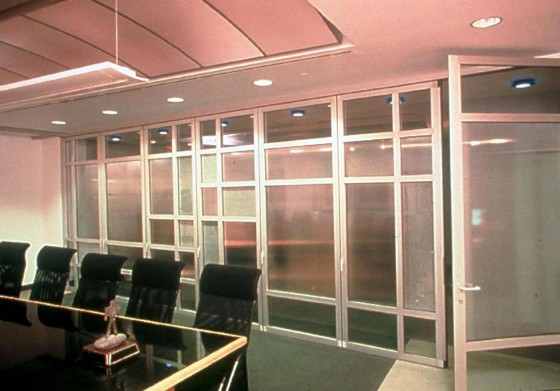 Functional folding glass partition wall window for office