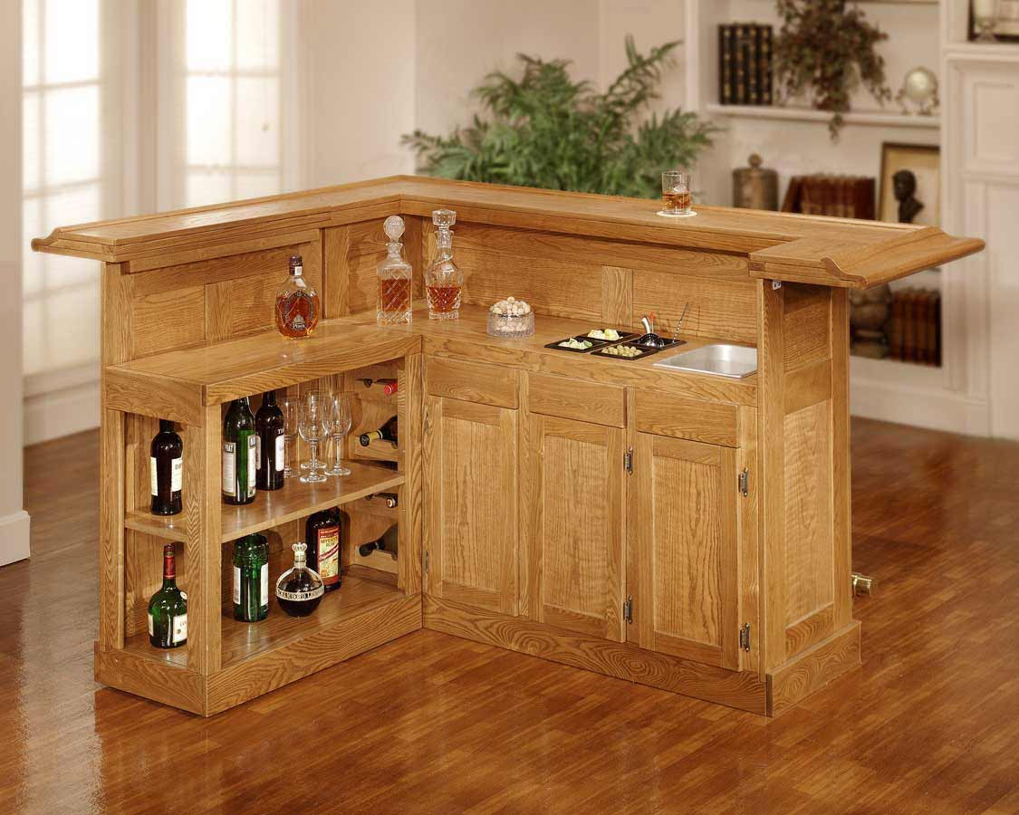 Hillsdale Classic Home Bar Cabinets with Side Wine Storage