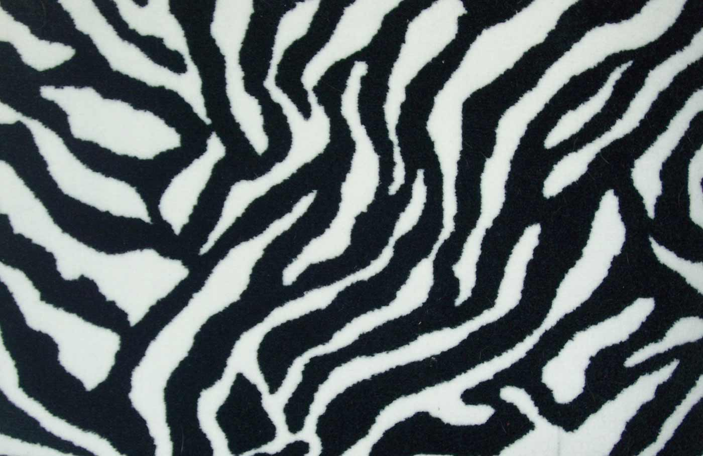Home carpet with Black and White Zebra Print