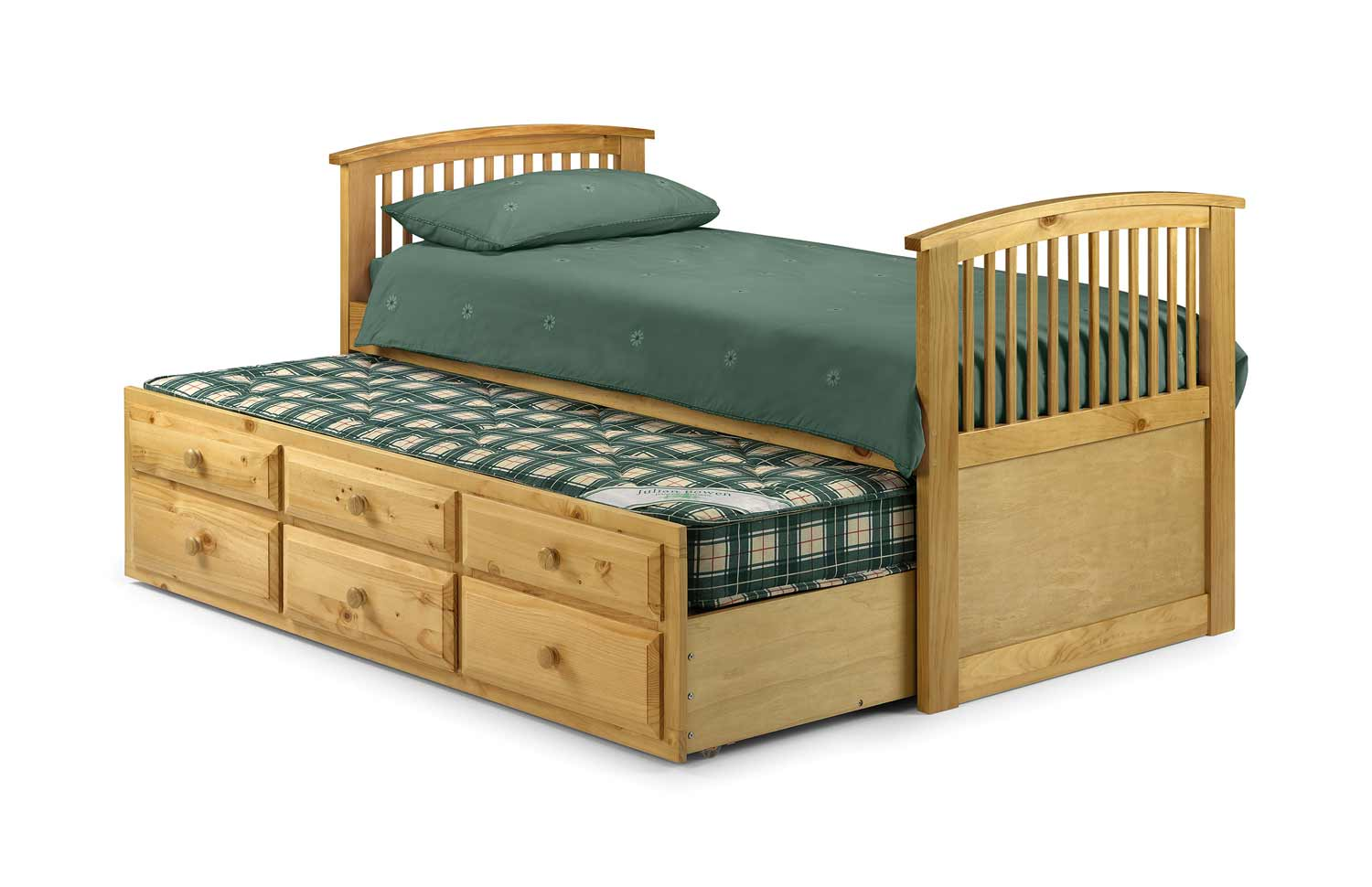 Hornblow beds with six storage in pine