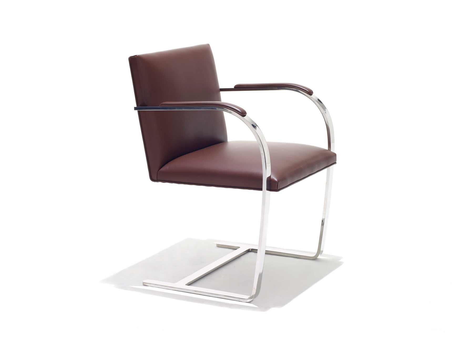 KnollStudio Brno stylish flat bar chairs with backs