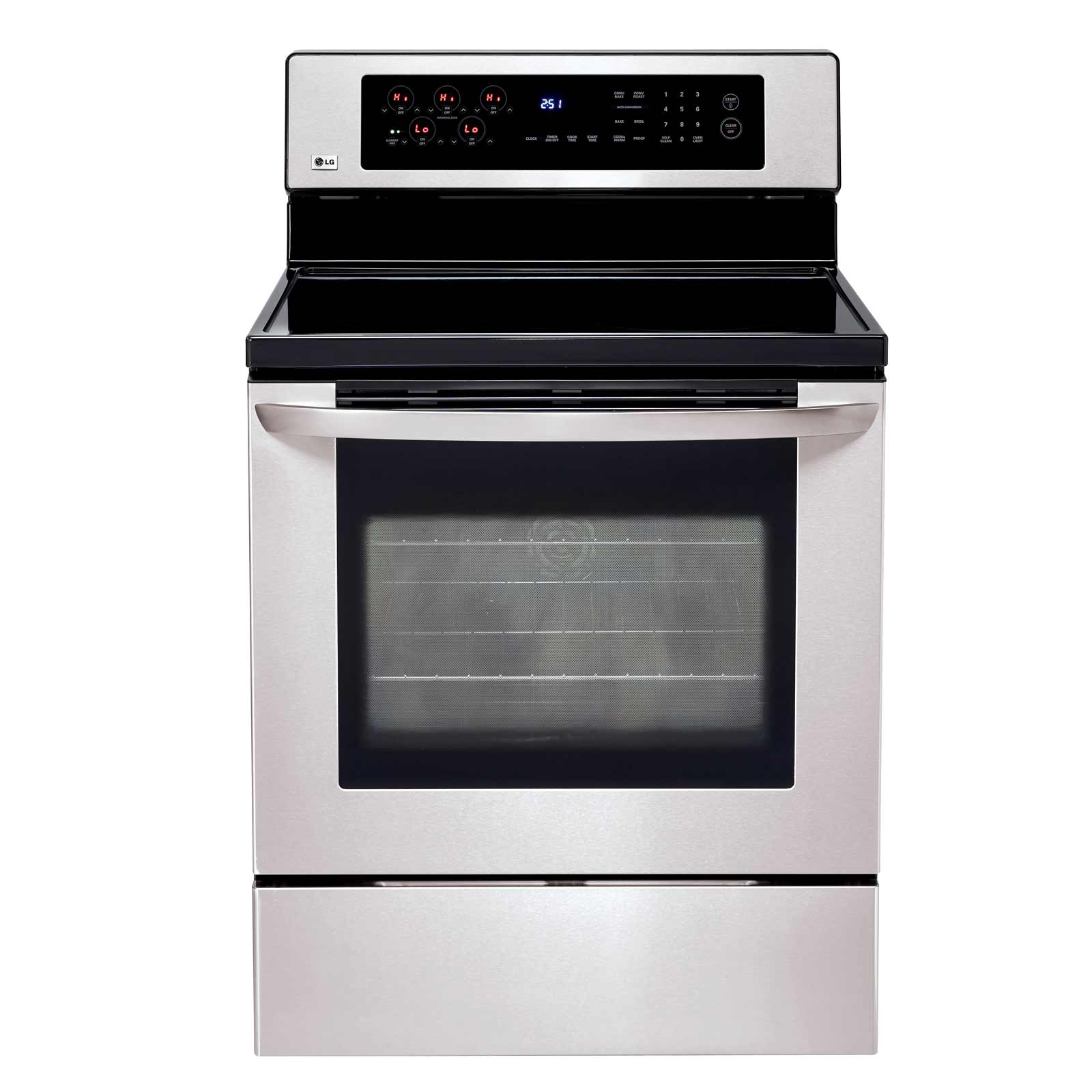 LG LRE30453ST Wide Freestanding Stainless Steel Electric Stove