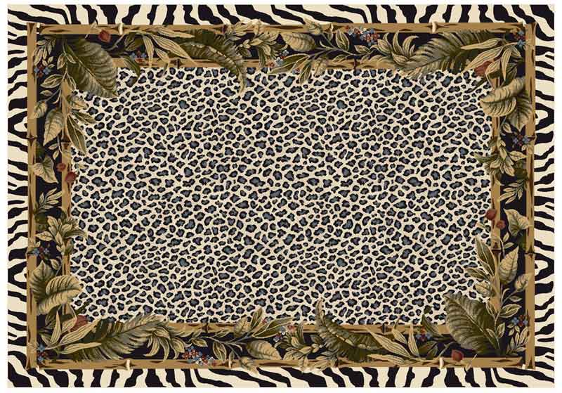Milliken snow leopard animal print carpet