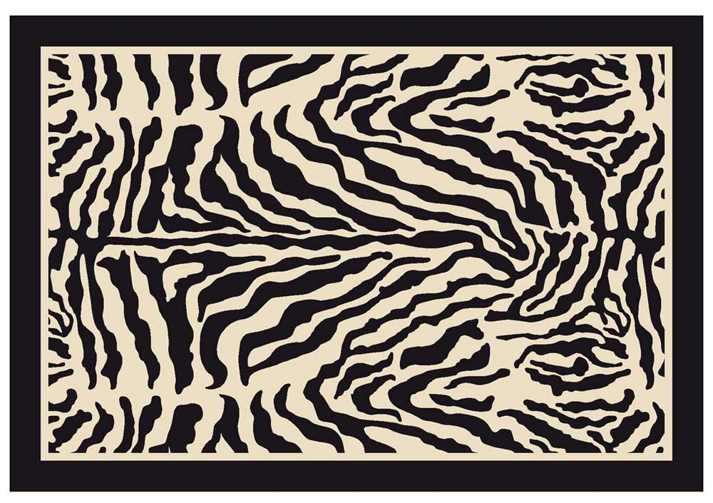 Milliken zebra animal print carpet zulu area