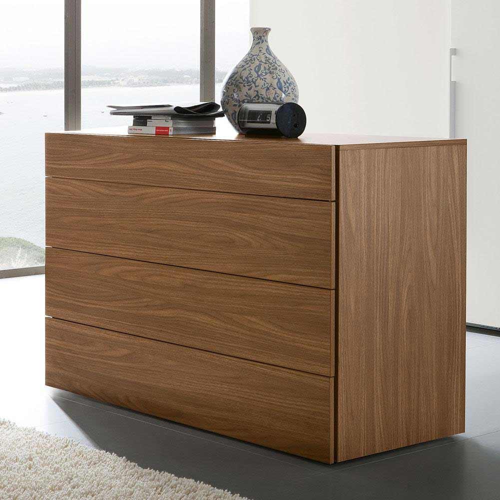 Rossetto Start Cheap Dresser in Solid Walnut
