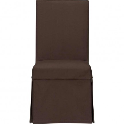 Slip side brown wedding canvas chair covers