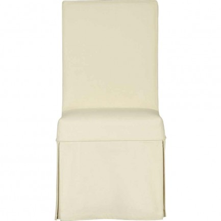 Slip side wedding chair with cotton cream covers