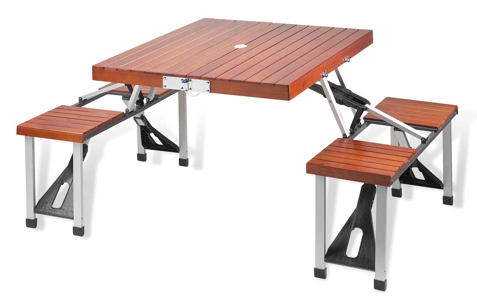 Solid Wood Picnic Mobile Desk