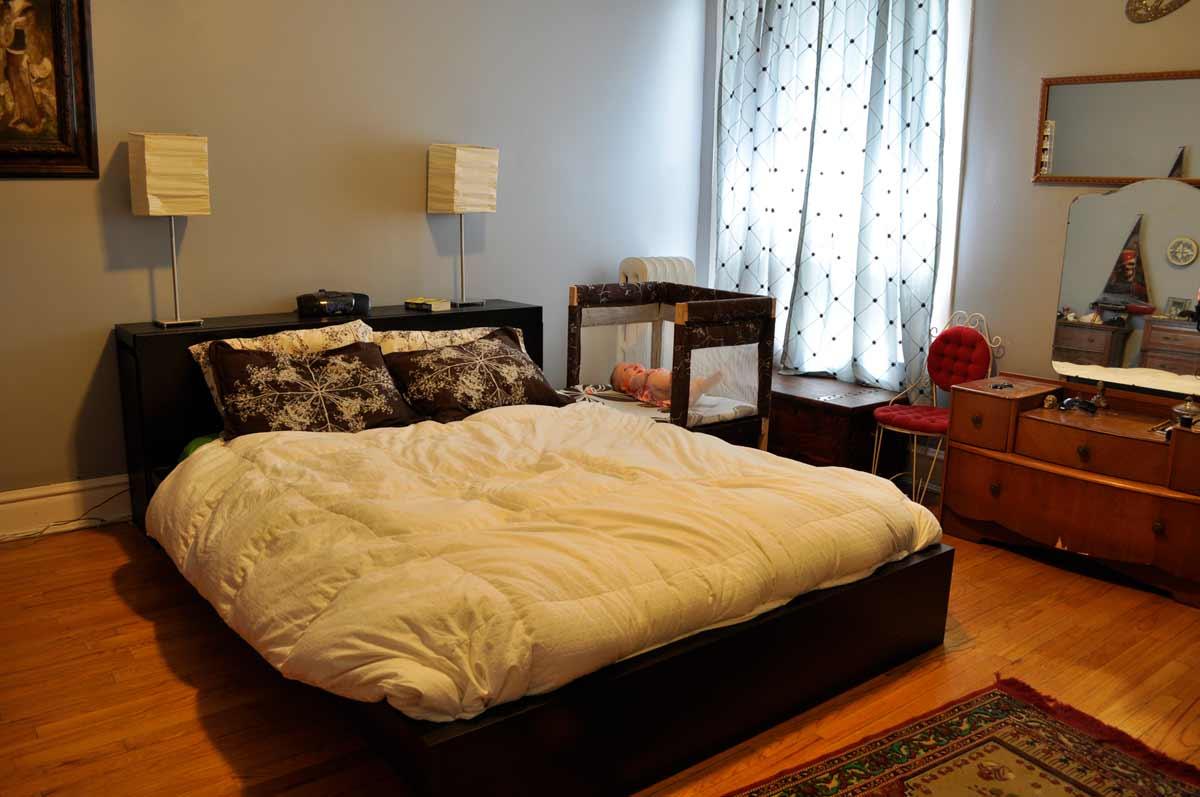 Traditional boxspring bed for home