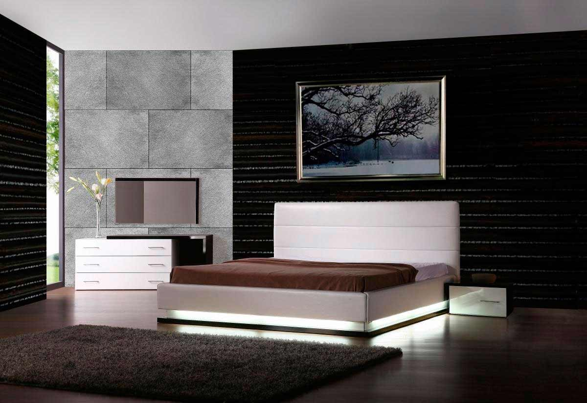VIG furniture platform bedroom with lights style