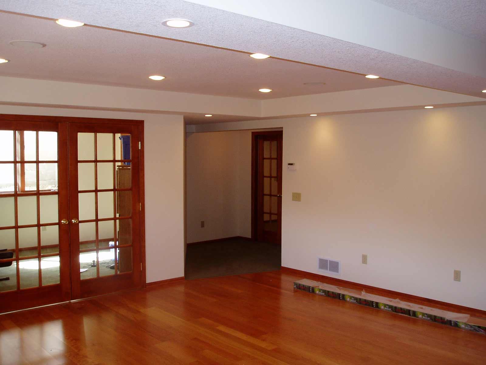 Wooden home basement carpet ideas