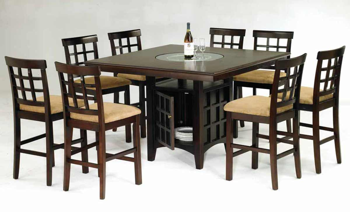 Zuma bar height dining table set
