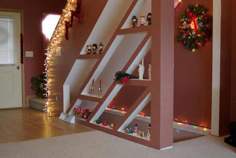 beautiful basement entry area below home ladder