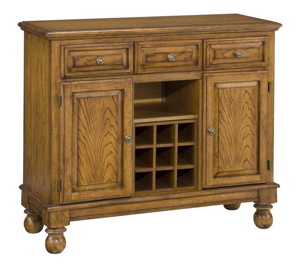 classic oak home styles buffet with wood top