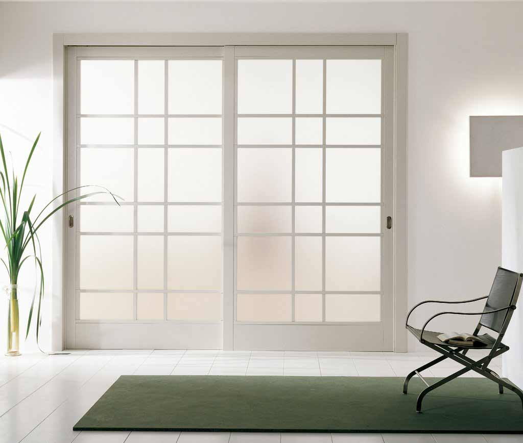 clear glass sliding doors room divider