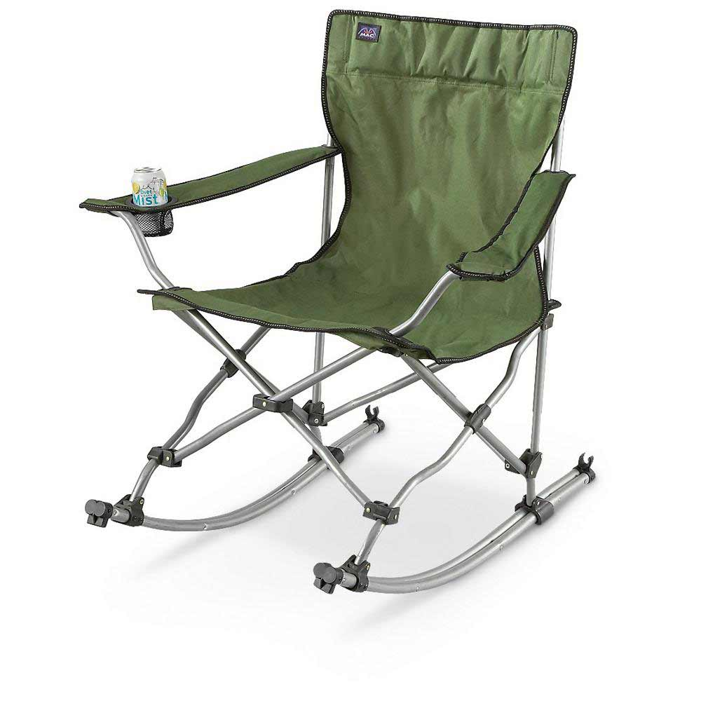 collapsible green portable rocking lawn chairs