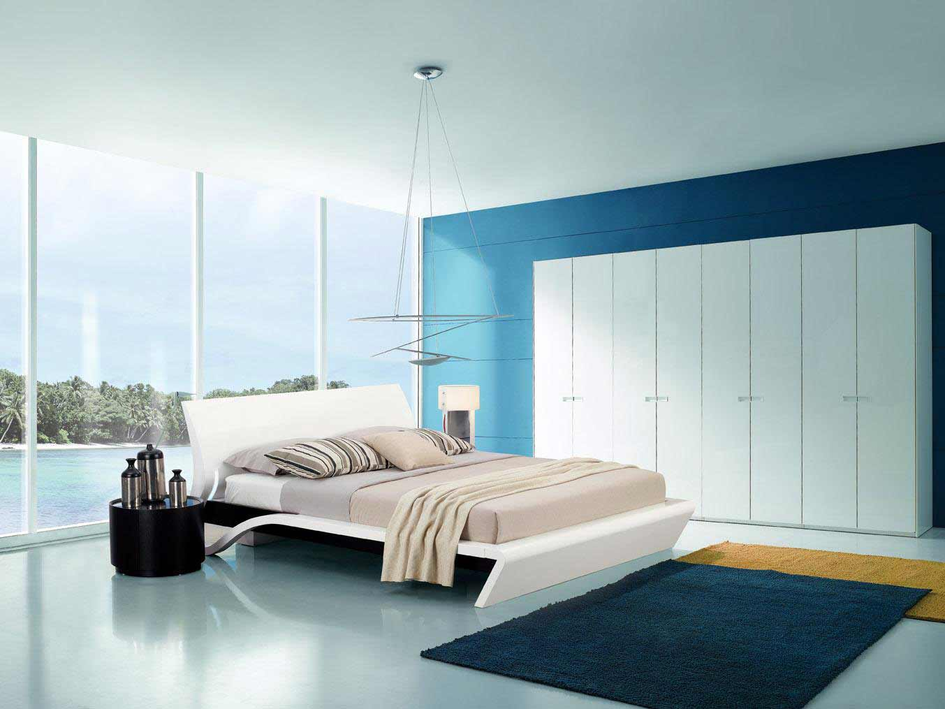 contemporary beds with lights from Orca