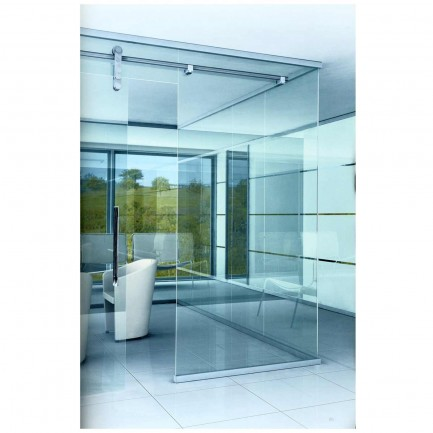 contemporary folding partition double glass wall