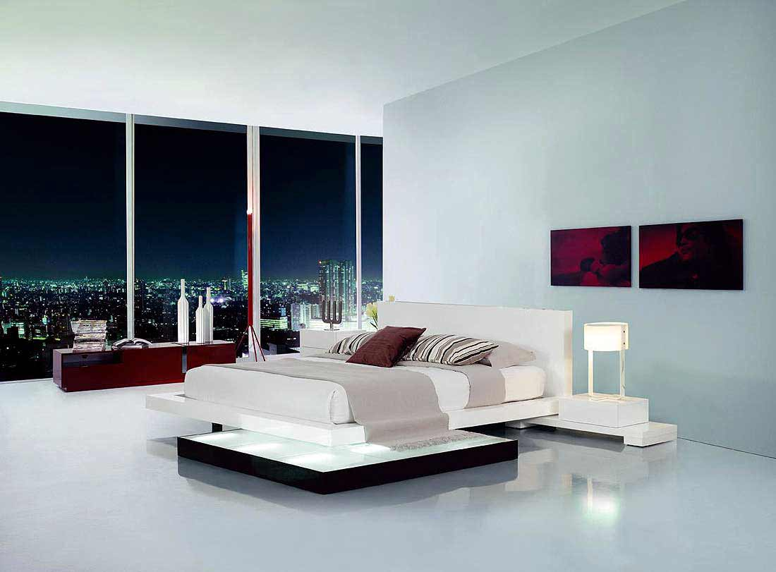 contemporary sky bedroom beds with lights