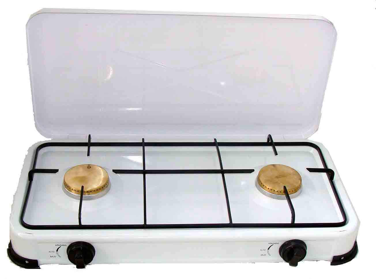 european gas powered stove with top cover