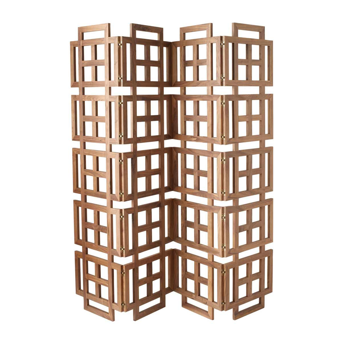 four panel wooden folding room screens