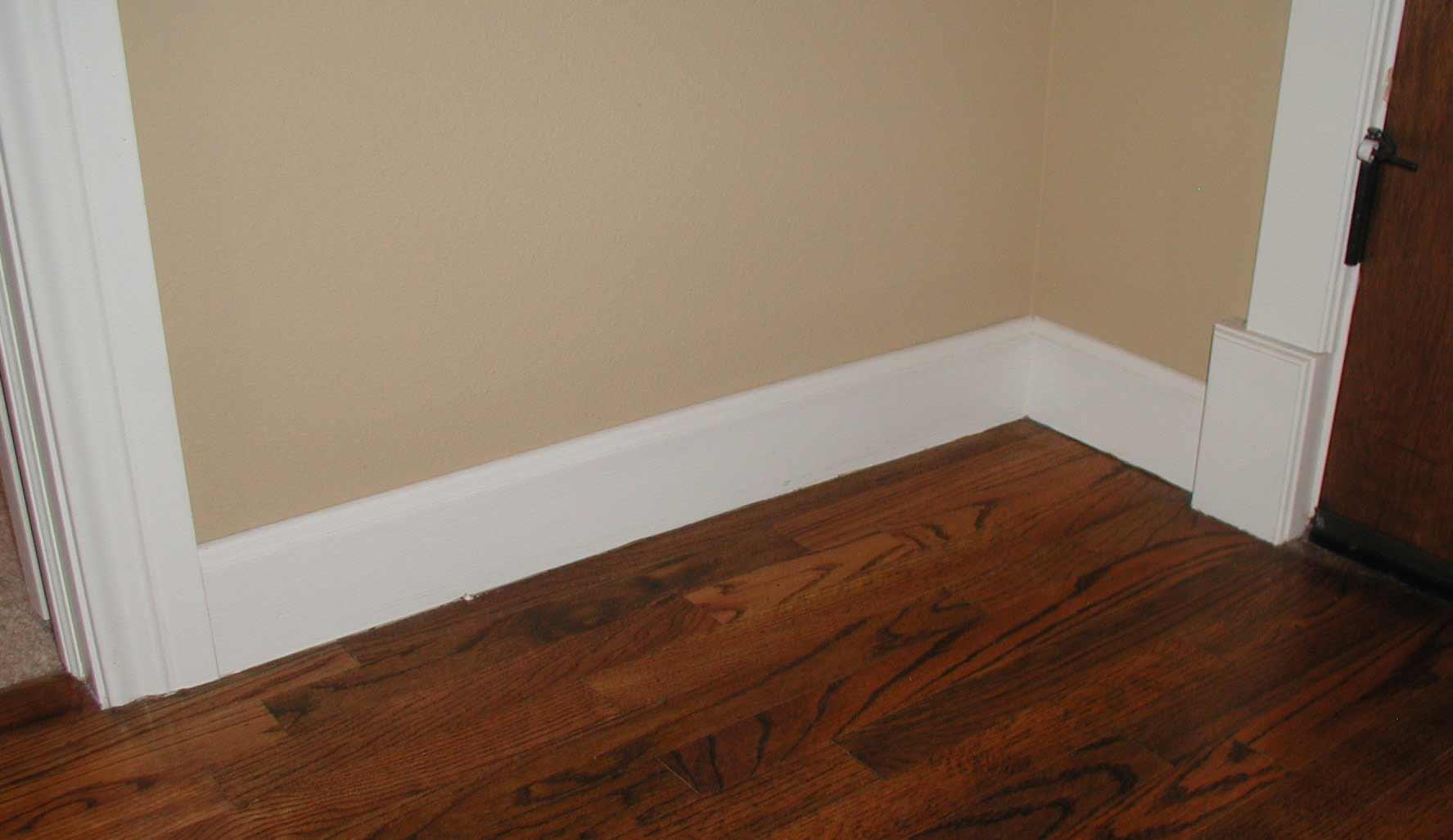 plastered corners baseboard rounded molding