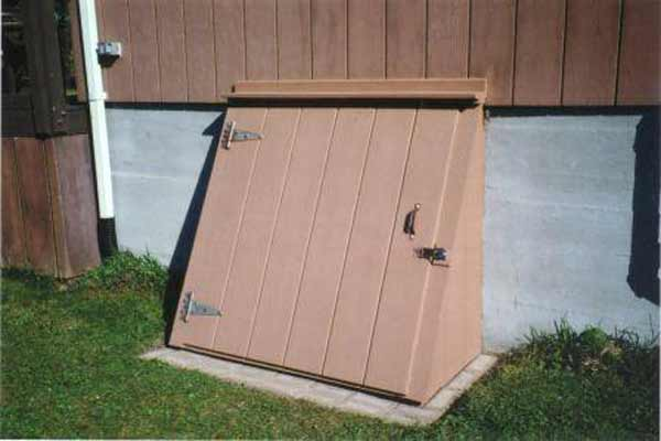 storm basement entry systems in wood