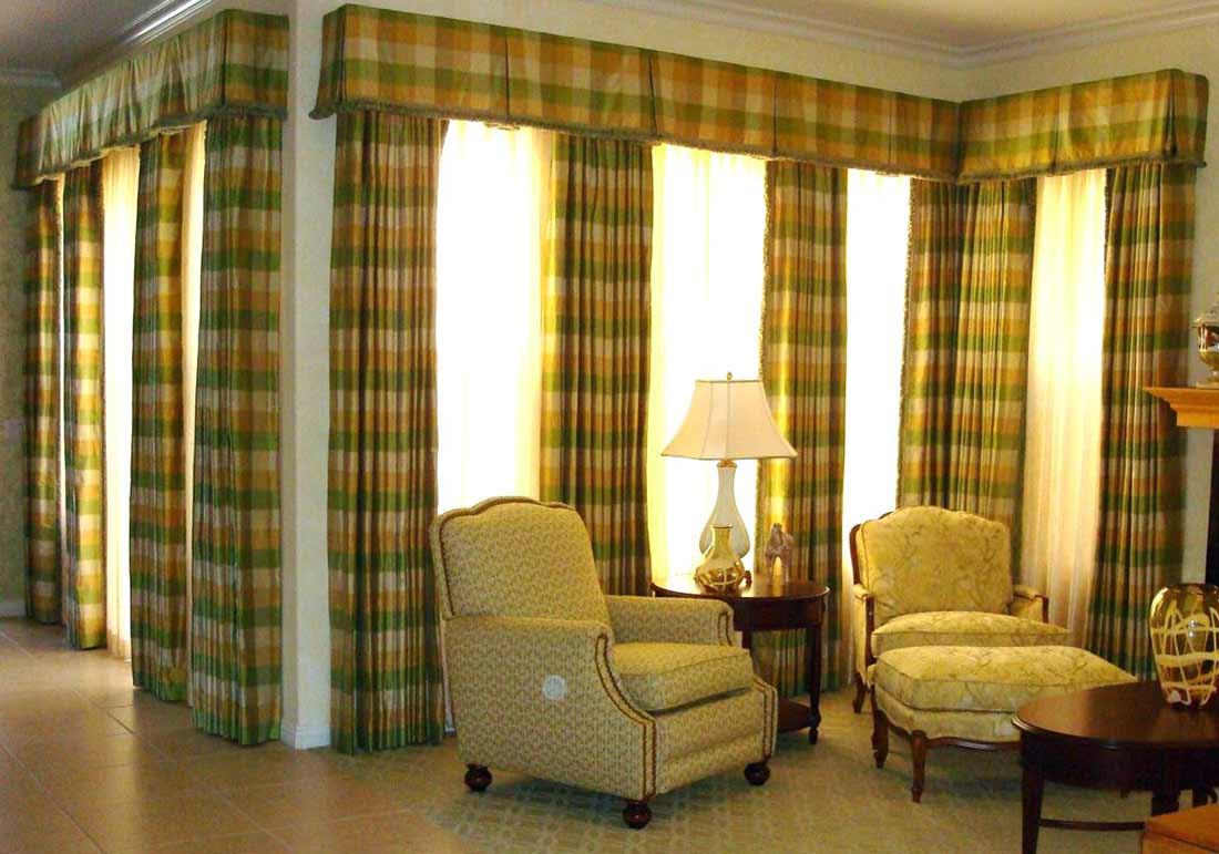 stylish basement curtain valance design