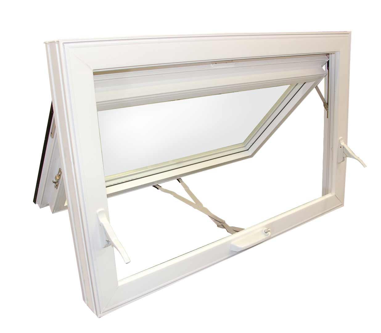stylish white aluminum awning windows