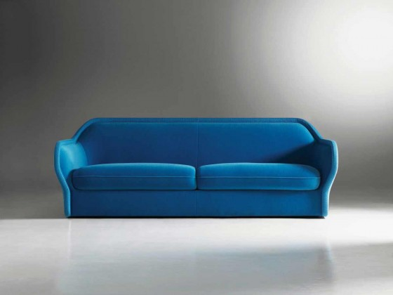 Badrot simple blue sofa with two seating
