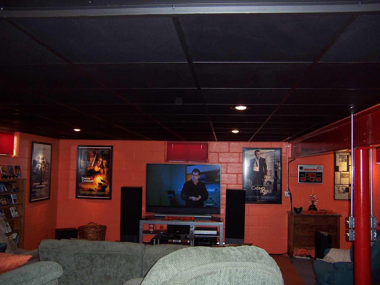 Cinetile ceiling black vinyl tiles