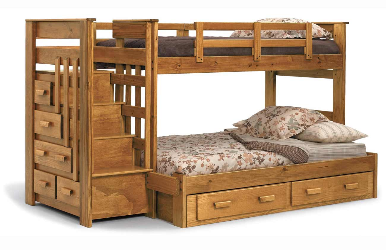 Heartland Full Size Stair Kids Bunk Bed