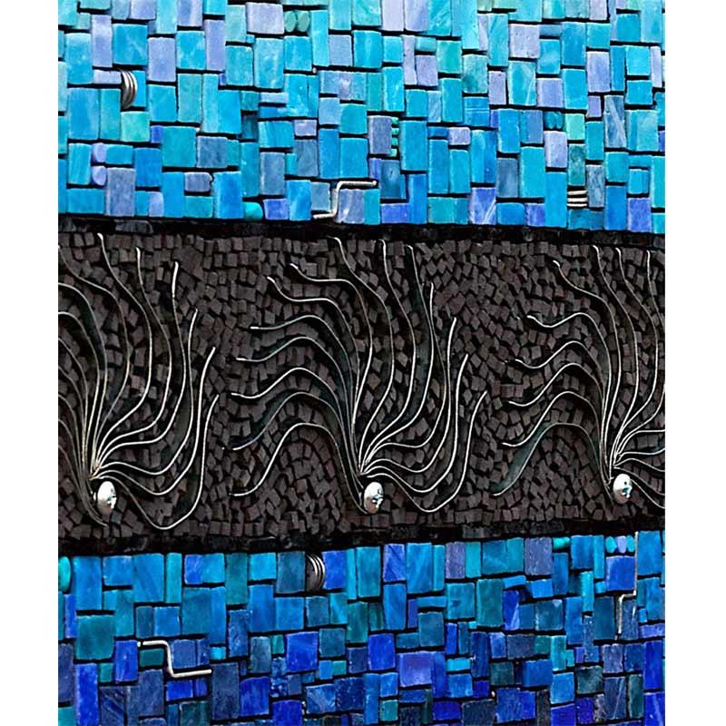 Iskander Impromptu Stylish Ceramic Wall Tile in Blue