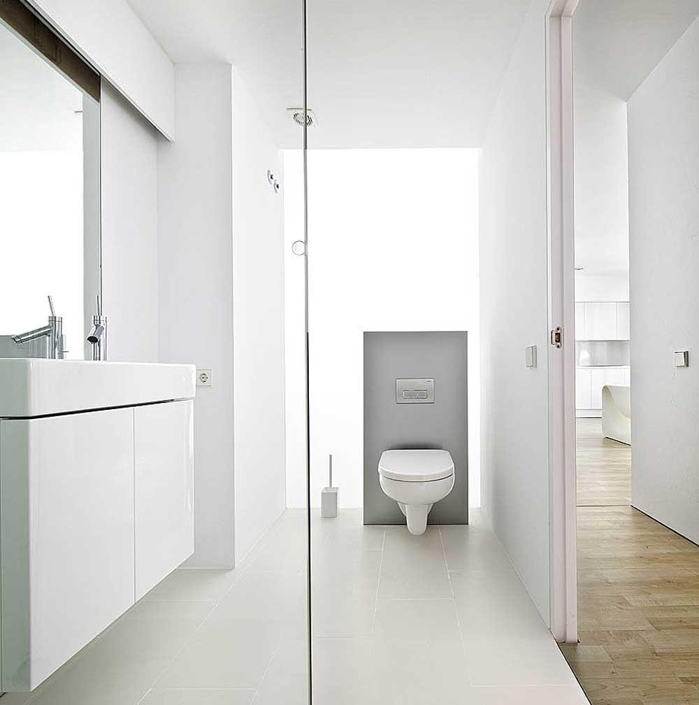 Modern sliding wall system for bathroom