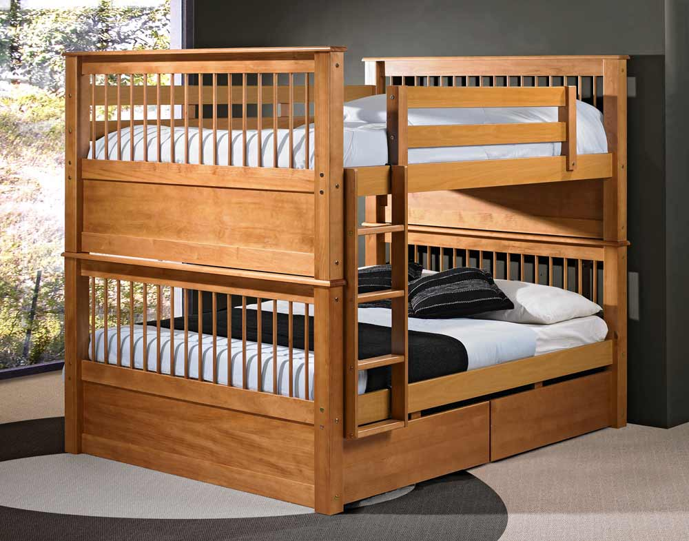 Solid Wood Bunk Beds for Adults